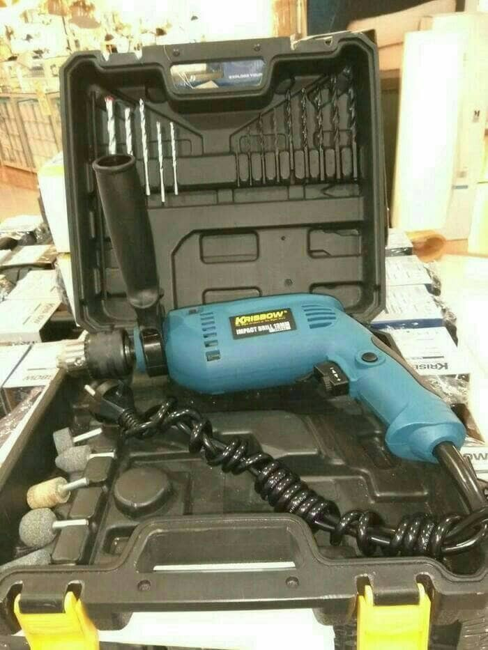... harga Krisbow impact drill / set bor listrik 21 pcs Tokopedia.com