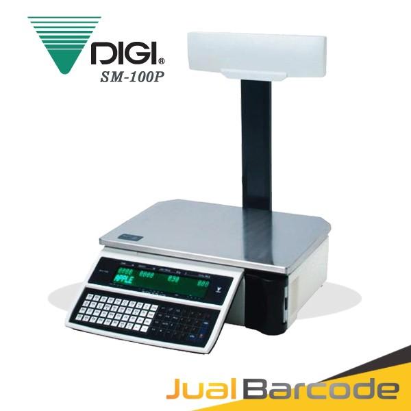 Foto Produk TIMBANGAN BUAH SAYUR PRINT LABEL HARGA DIGI SM100 P - DIGI SM 100 P dari Barcode Official Store