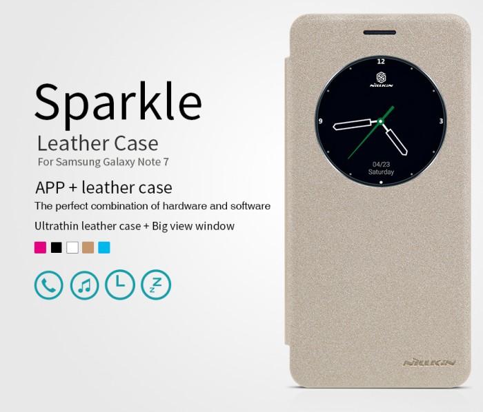 harga Nillkin flip case sparkle leather - samsung galaxy note 7/ note fe Tokopedia.com