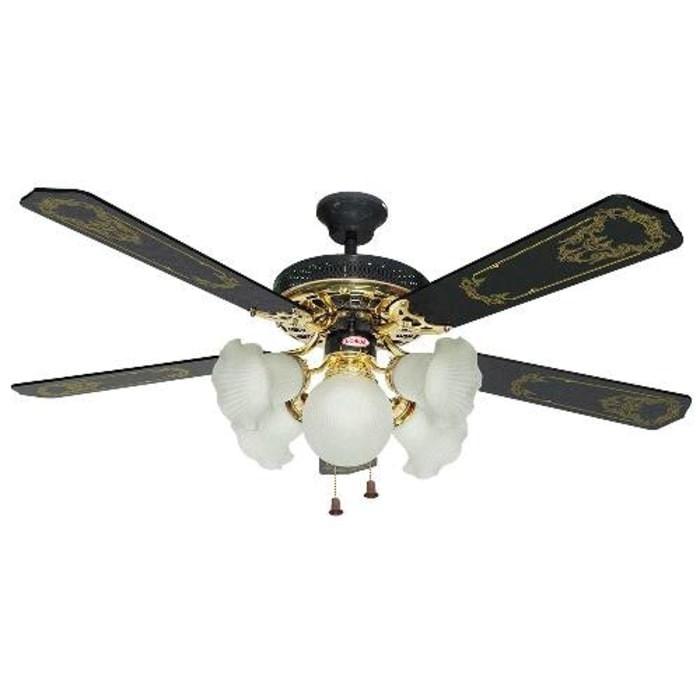 harga Uchida ceiling fan 52 inch 5 lampu cf-113(hitam) Tokopedia.com