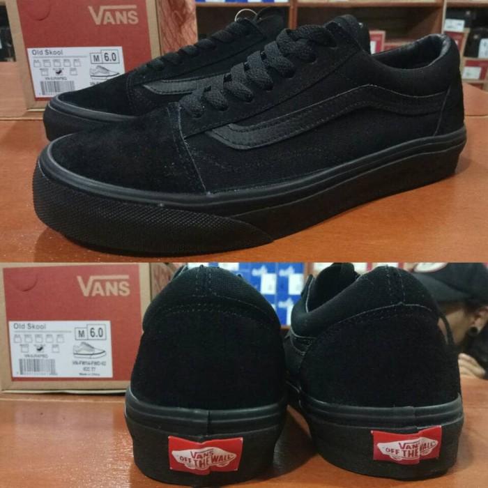 Sepatu vans oldskool full all black hitam polos - original premium bd4b8b0617