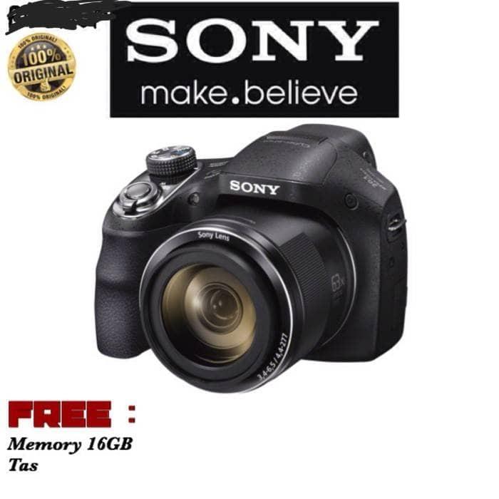 Kamera sony dsc-h400 paketan tas dan memory 16gb (garansi resmi sony)