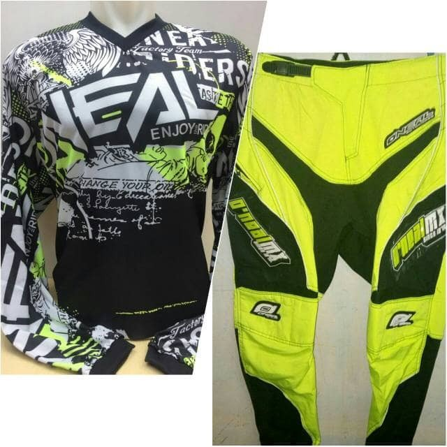 harga Grosir jersey celana trail cross motocross oneal xl hijau Tokopedia.com