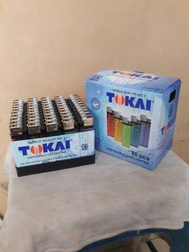 harga 1 box tokai korek api 50 pcs disposable gas lighter tokay sekali pakai Tokopedia.com