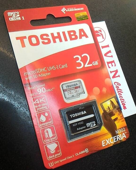 harga Toshiba exceria 32gb m302 microsd memory 32 gb micro sd card class 10 Tokopedia.com