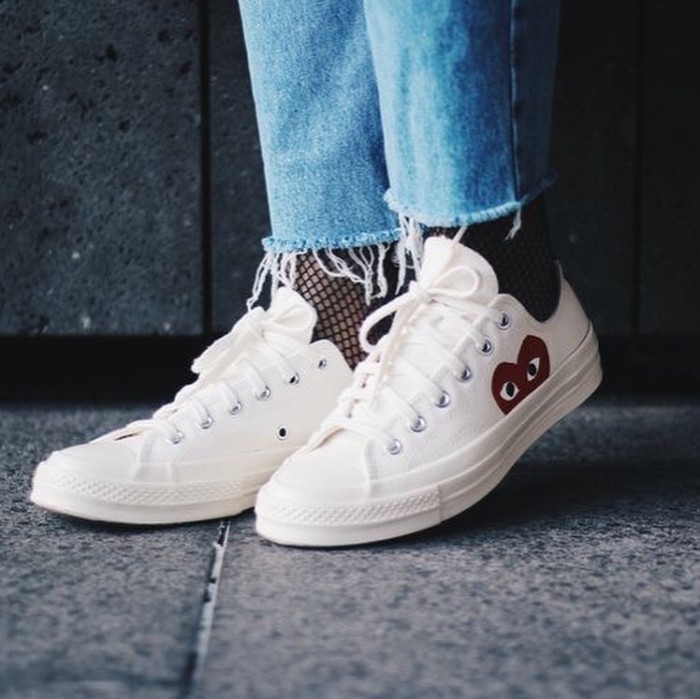 6e27f4dbda46 Jual White Low Converse Ct all Star 70s x Comme Des Garcons Play ...