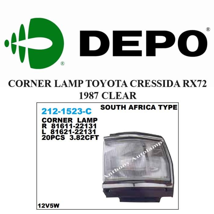 CORNER LAMP TOYOTA CRESSIDA RX72 1987 CLEAR KANAN