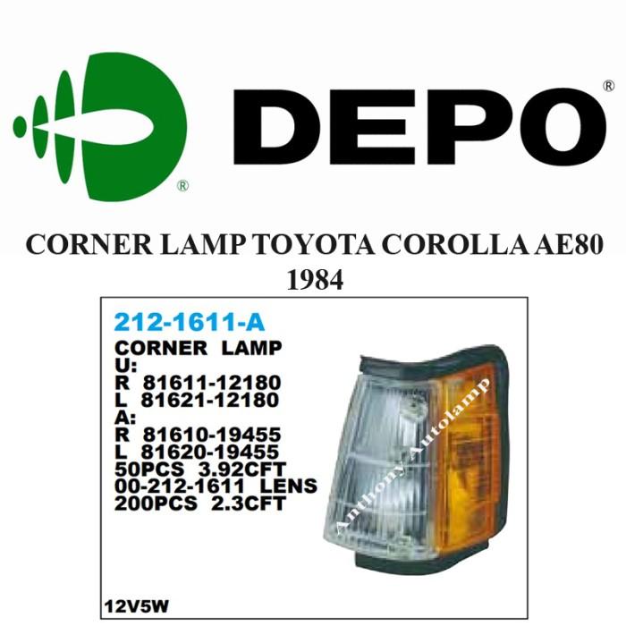 Corner lamp toyota corolla ae80 1984 lh ...