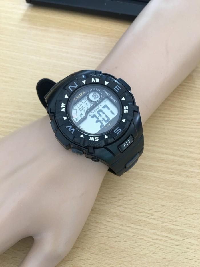 Jam Tangan Anak Pria Wanita ABG Sporty Lasika L877 F77 Original Black