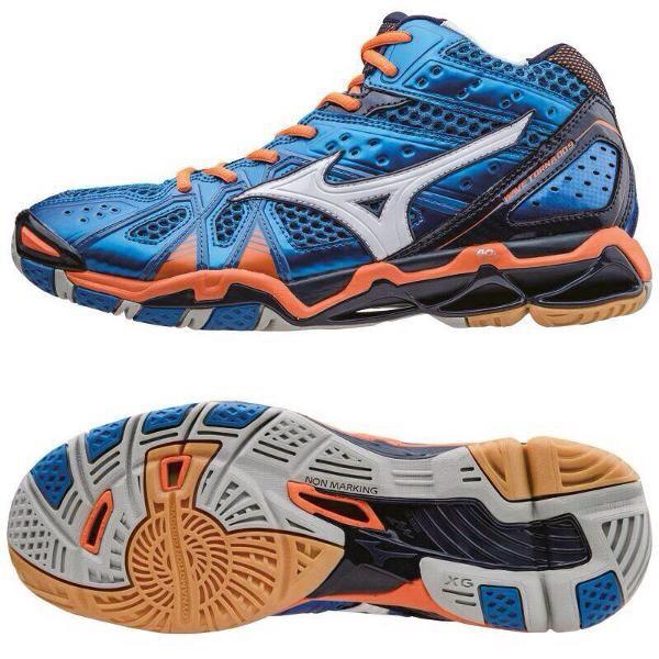 Jual MIZUNO WAVE TORNADO 9 MID BLUE ORANGE - footgoodz  f598b53f82