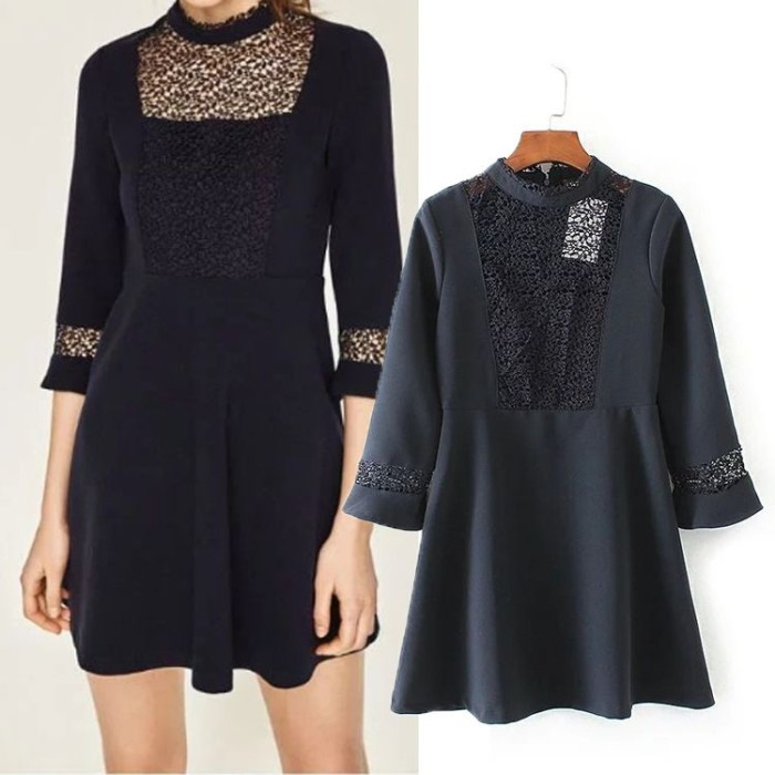 harga Mini dress sexy dress blue royal lace (l) import original Tokopedia.com