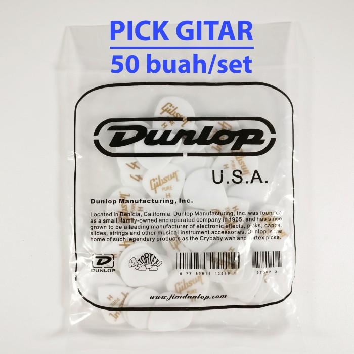 harga Pick gitar dan bass gibson dunlop heavy white/putih Tokopedia.com