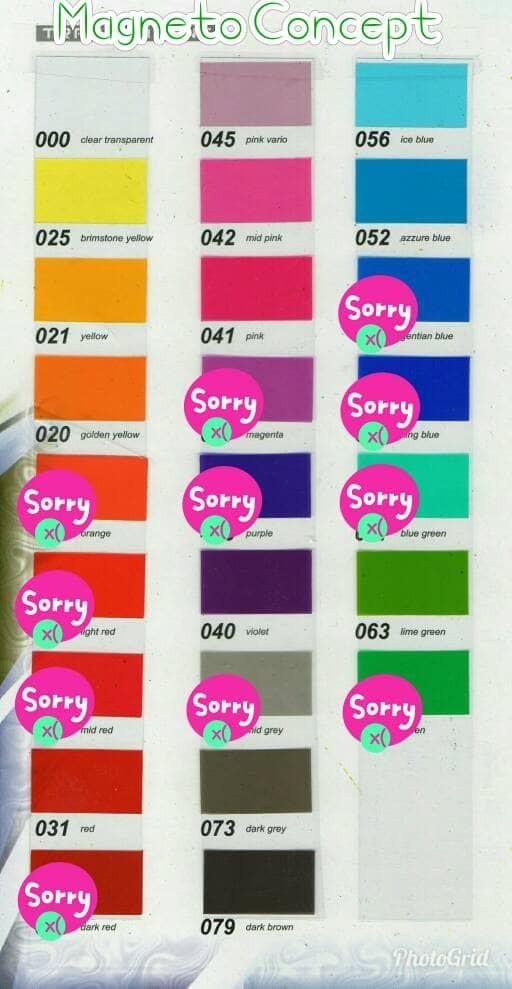 Sticker Decal Vinyl Warna Transparan Glossy Panace