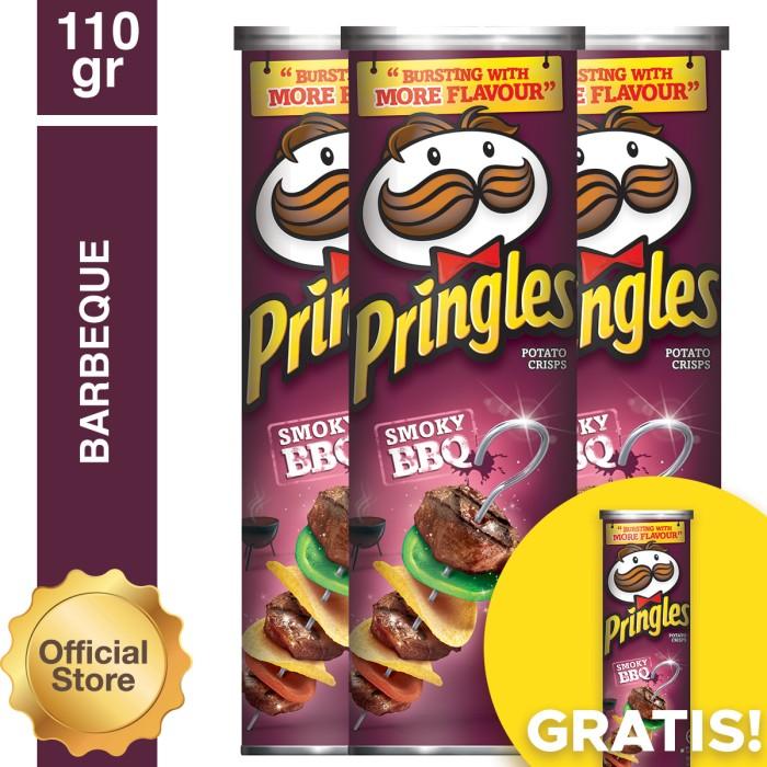 harga [buy 3 Get 1] Pringles Barbeque 110gr (as4-pe11012-8886467100048) Tokopedia.com