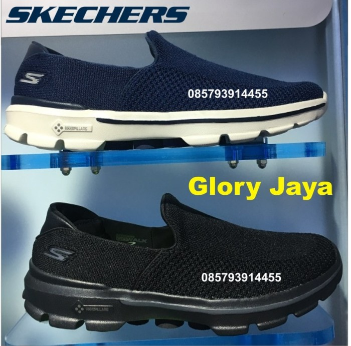 Skechers   Sepatu skechers   skechers original   Skechers Men GoWalk 3 -  Navy c3de6c4e63