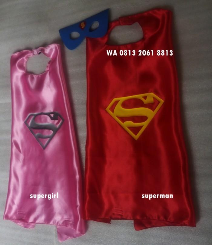 Supergirl | topeng & jubah kostum superhero pesta haloween ultah kado