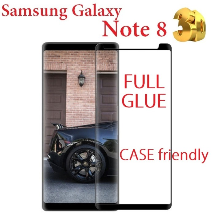 harga Samsung galaxy note 8 - 3d tempered glass case friendly full glue Tokopedia.com