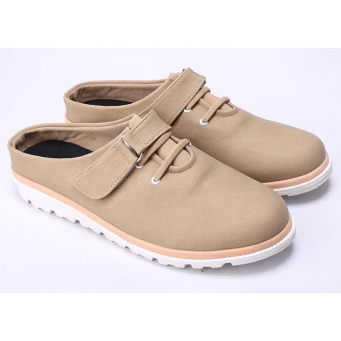 ... harga Sepatu sandal sendal bustong wanita cewek cewe terbaru krem do  041 cz Tokopedia.com 70e0c44ca4