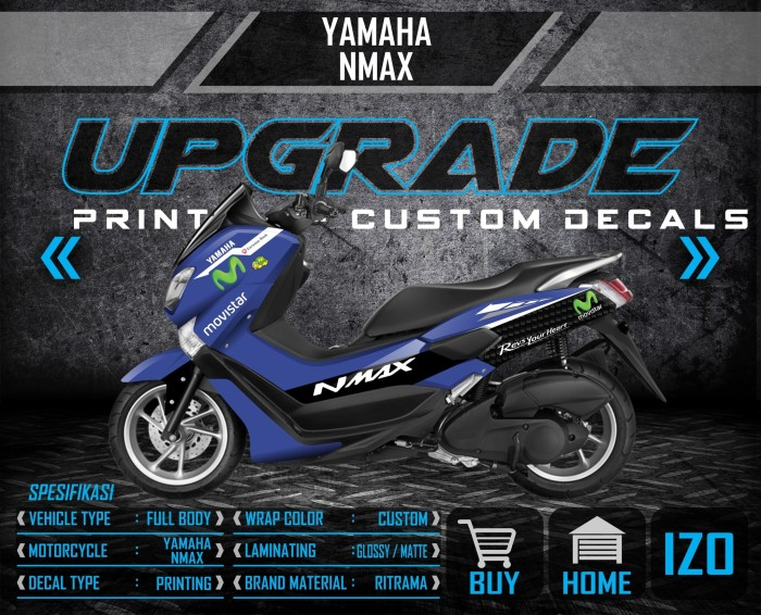 Foto Produk decal sticker striping Yamaha NMAX Movistar dari UPGRADE sticker