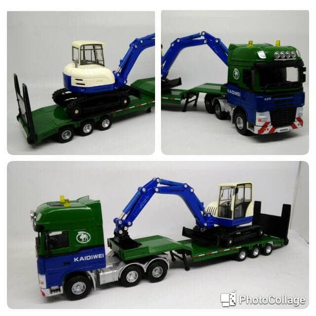 harga Diecast miniatur truk transporter trailer truck pembawa excavator kdw Tokopedia.com