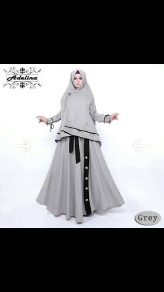 Jual Adelina Gamis Syari Busui Kekinian Baju Muslim Hijabers