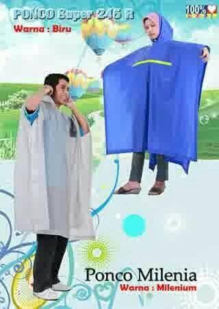Jas Hujan Poncho Milenia Indoplast mantel kelelawar