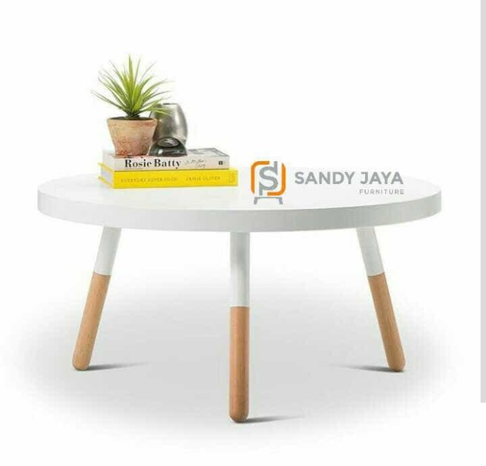 Jual Meja Makan Putih Duco Coffee Table Meja Cafe Meja Tamu