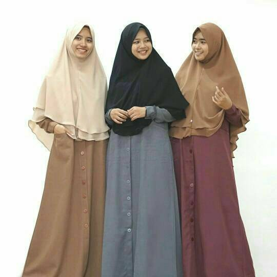 harga Gamis nutty syari simple busui hijab alila Tokopedia.com