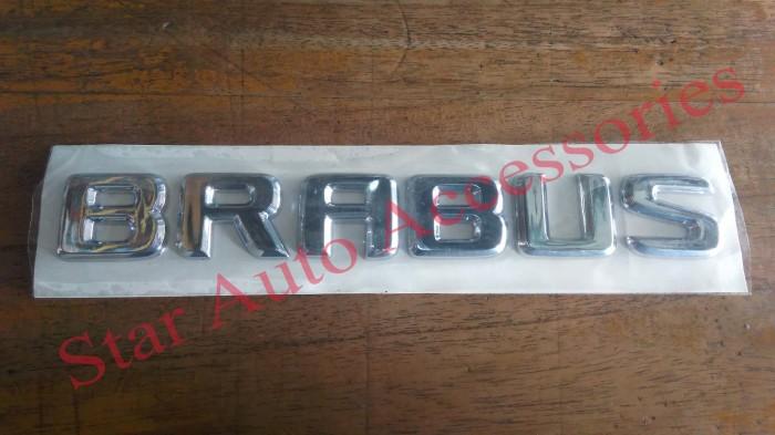 harga Emblem letter mercedes benz brabus chrome Tokopedia.com