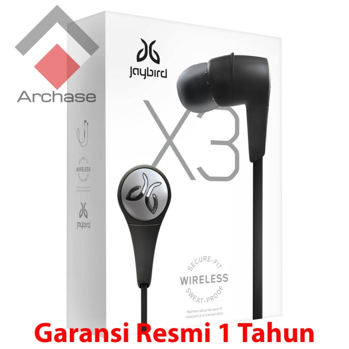harga Jaybird x3 sports in-ear wireless bluetooth headphone blackout (black) Tokopedia.com