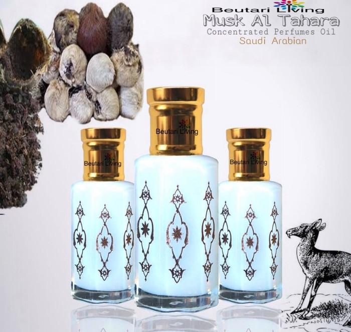 harga 6ml musk al tahara parfume oil aaa (parfum arab minyak kasturi putih) Tokopedia.com