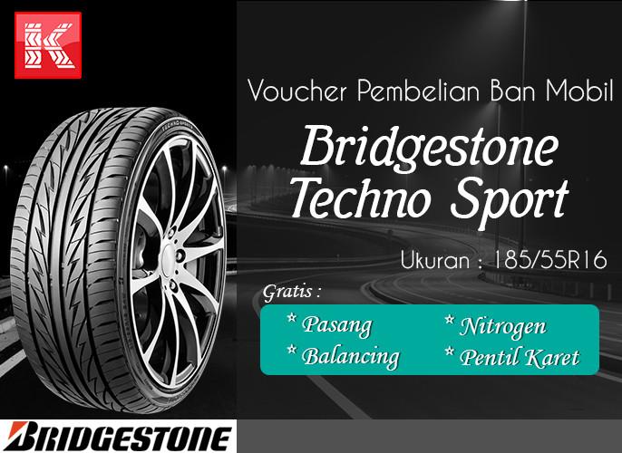 harga Ban mobil bridgestone techno sport 185/55r16 (vocer) Tokopedia.com