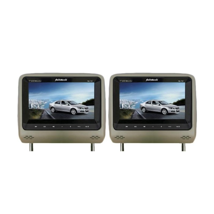 harga Audiobank ab-767dvd/tv - 7  headrest dvd/tv monitor - beige Tokopedia.com