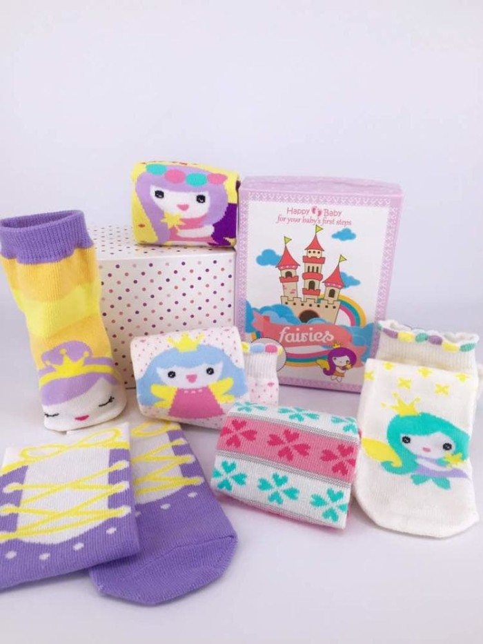 42bc21549329 Jual KAOS KAKI BAYI HAPPY TOES BABY SOCKS BIG SIZE 6IN1 Moti ...