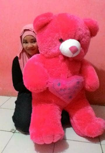 Jual Free bordir nama Boneka Cantik Lucu Imut Teddy Bear Love 1 ... 50355a9c75