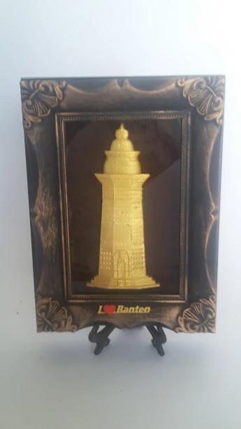 Jual Miniatur Menara Banten Bingkai By Craftridi Clg Kota