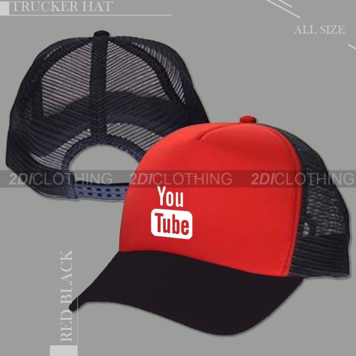 Topi trucker jaring youtube harga Topi trucker jaring youtube Tokopedia.com 4aa310c859