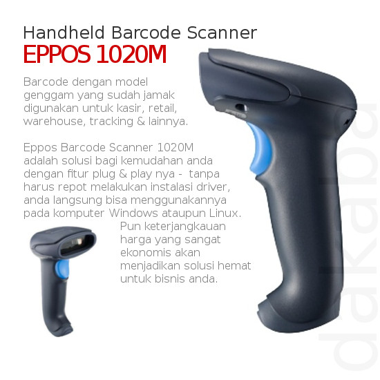 harga Barcode reader barcode scanner eppos tipe handheld Tokopedia.com
