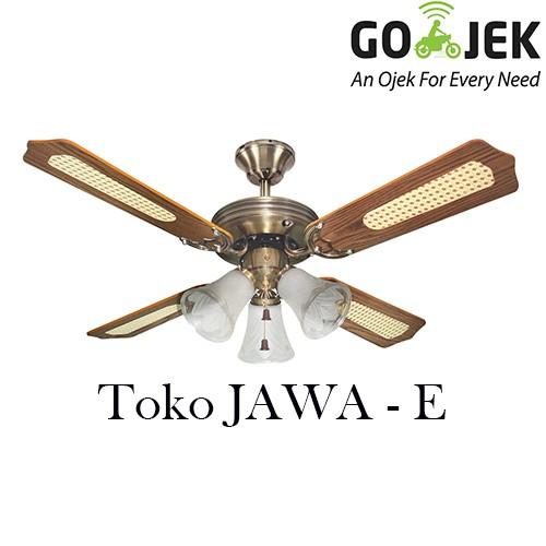 Foto Produk UCHIDA CF 125E/AB Celing Fan Kipas Angin Plafon 42inch 3 Lampu - KAYU dari TOKO JAWA E.