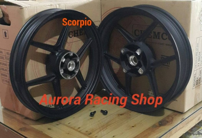 harga Velg racing chemco scorpio palang v3 warna black Tokopedia.com