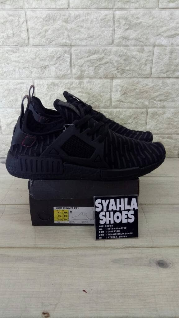 3b2935365e6b4 Jual ADIDAS NMD XR1 TRIPLE BLACK UNAUTHORIZED AUTHENTIC BNIB - DKI ...