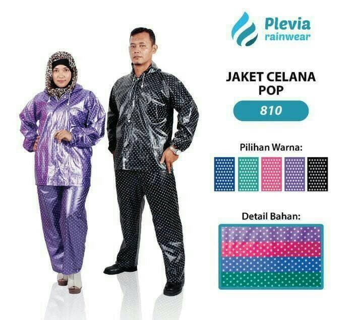 harga Jas hujan setelan jaket celana pria cowo cewe wanita motor polkadot Tokopedia.com