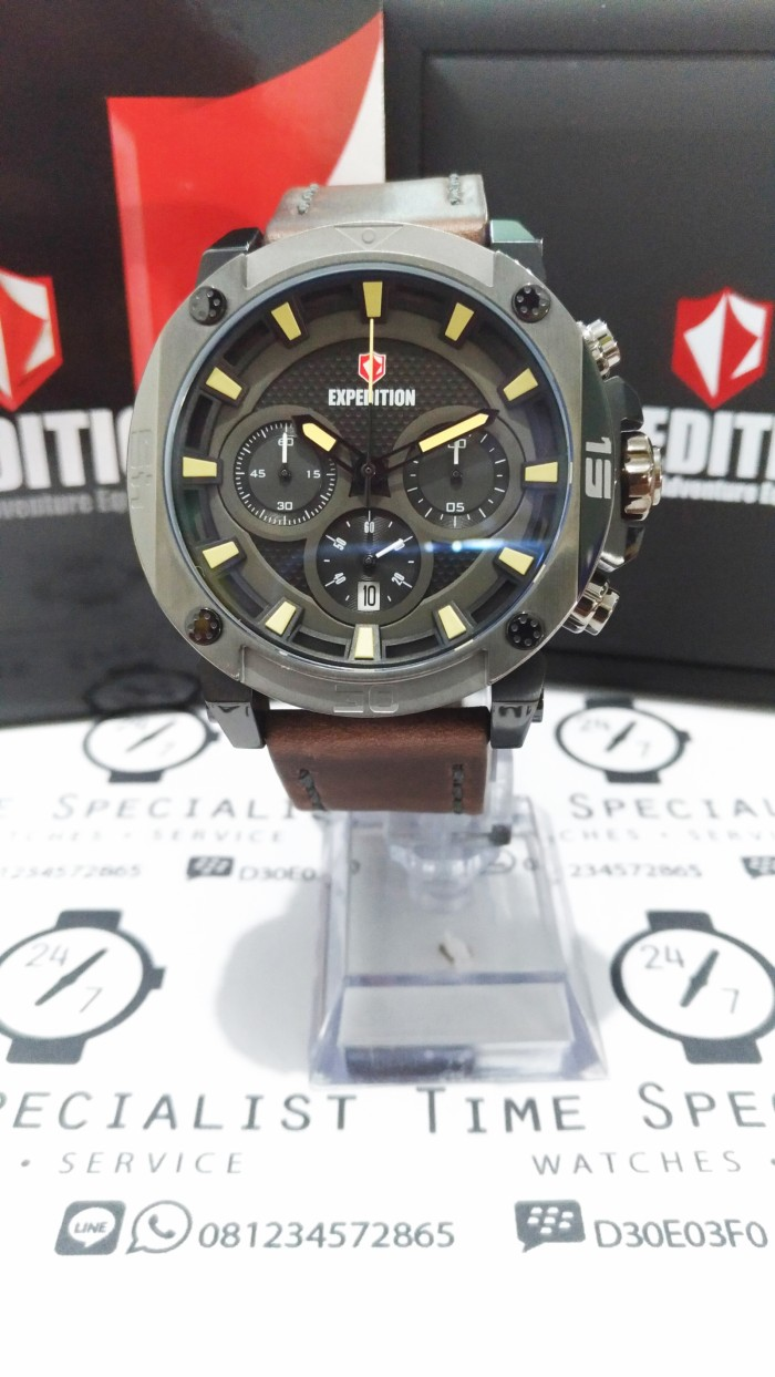 Expedition 6629 Mc Brown Garansi Resmi Update Harga Terkini Dan Swiss E6335mc Airborne Tali Karet Hitam Dial Chronograph Jam Tangan E 6606 Kulit Original 1 Th