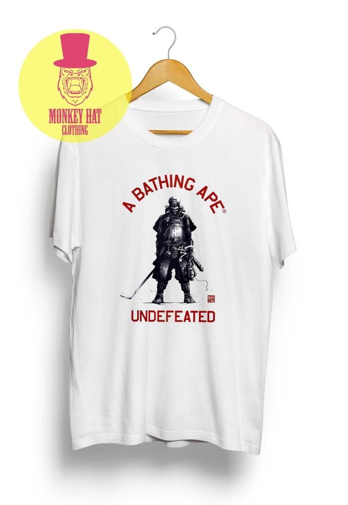 T-shirt / kaos bape x undefeated hypebeast laris - dear aysha