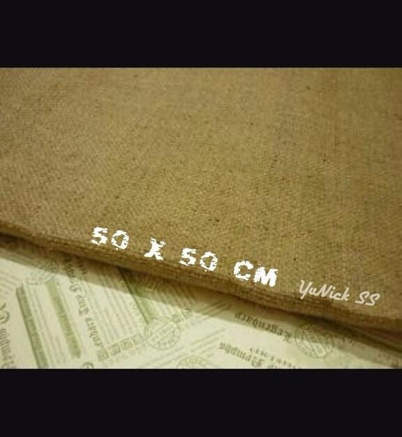 diskon besar besaran Small Burlap 50 x 50 cm kain goni bahan kreasi t