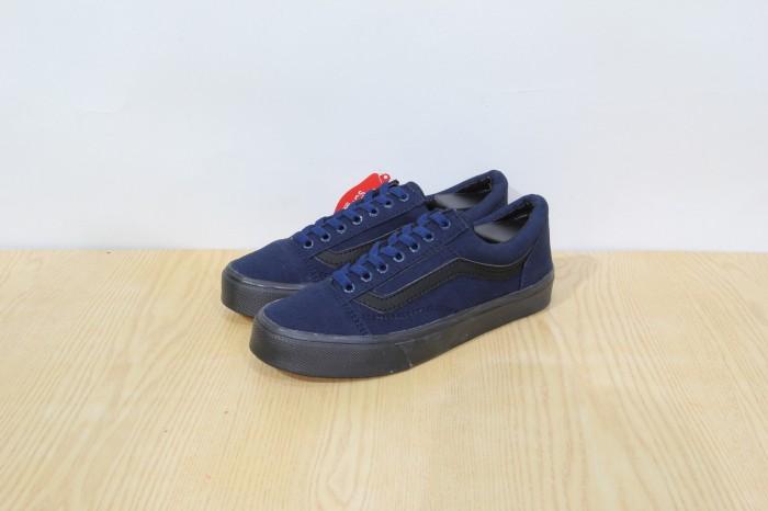Sale Shoes C1e7 Sepatu Vans Old School Navy Sol Hitam Pr Lokal Import D21t71