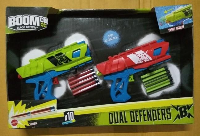 harga Mainan Anak Branded Pistol Handgun Nerf Boomco Dual Defenders Komplit Tokopedia.com