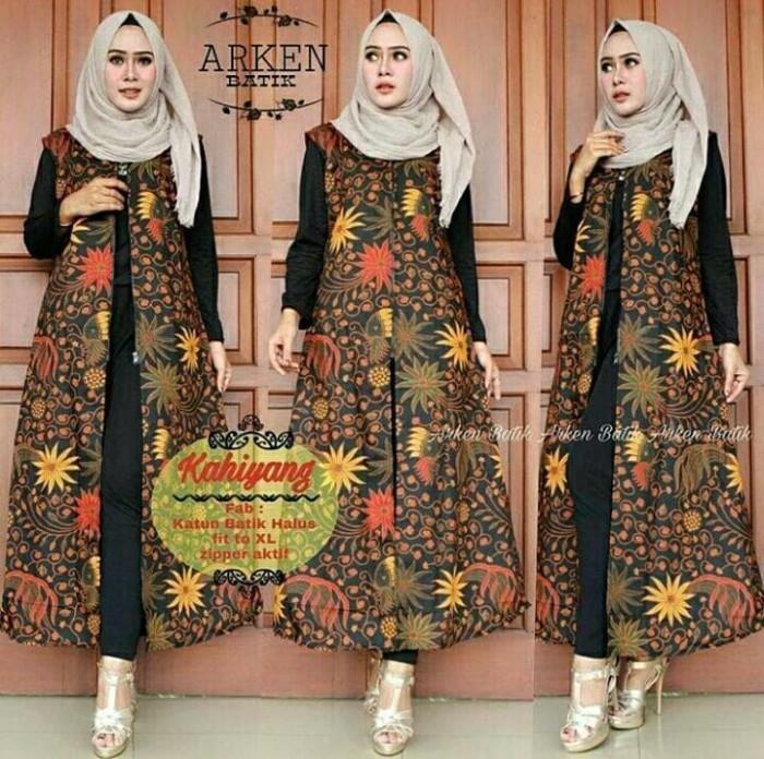 Jual Tunik Batik Long Cardy Cardigan Panjang Outer Kota Yogyakarta Diyas Onlineshop Tokopedia