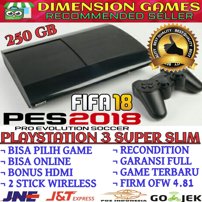 Ps3 Ps 3 Sony Playstation 3 Super Slim Ofw Hdd 250 Gb