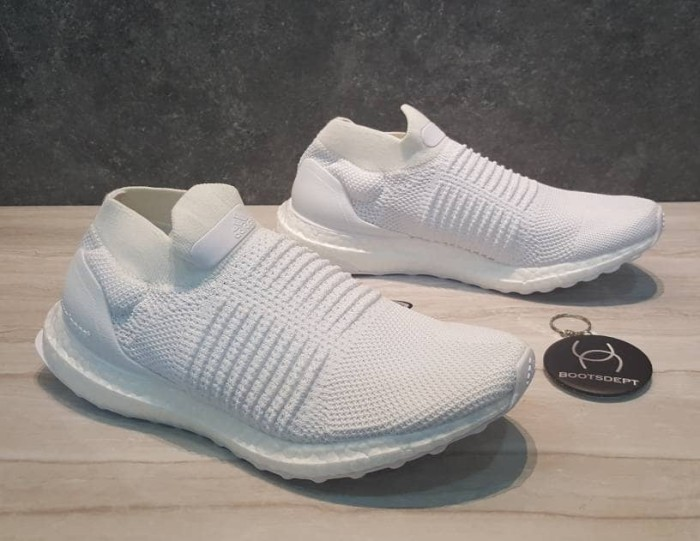 a824a8199 Jual Adidas Ultra Boost Laceless - Black   Triple White - Kab ...